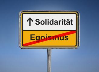 Solidarität / Egoismus