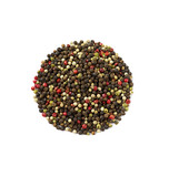 Peppercorns isolated on a white background