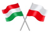 Flags : Hungary and Poland