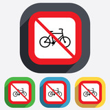 No Bicycle sign icon. Eco delivery.