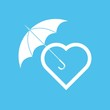 Heart under umbrella
