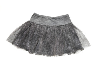 gray skirt for  girl, isolated on white background