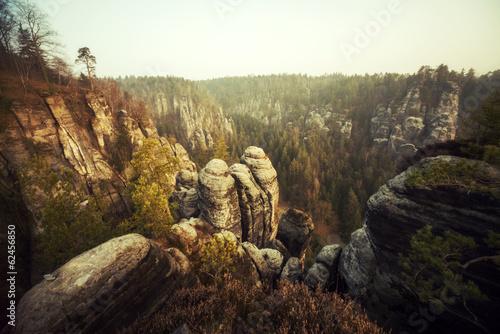 Felsformationen in der Bastei (Sächsische Schweiz)