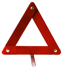 Signalization triangle for automobiles isolated