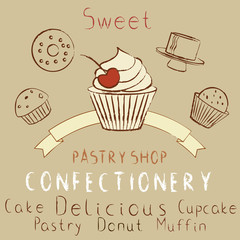 Pastry shop elements set
