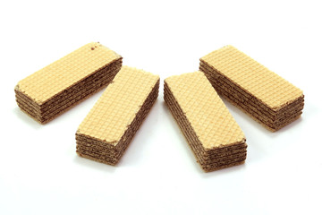 Chocolate Wafer In Isolated