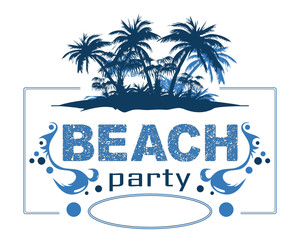 beach party blau