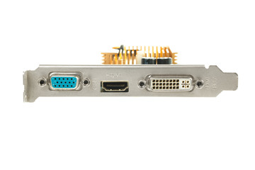Rear panel video card of PC