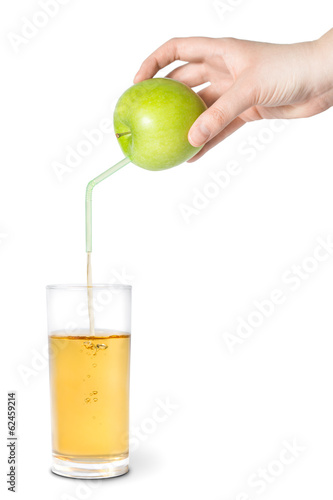 Natural or fresh apple juice concept.