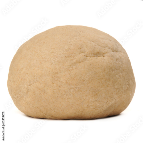Whole Wheat Yeast Dough Isolated on White Background
