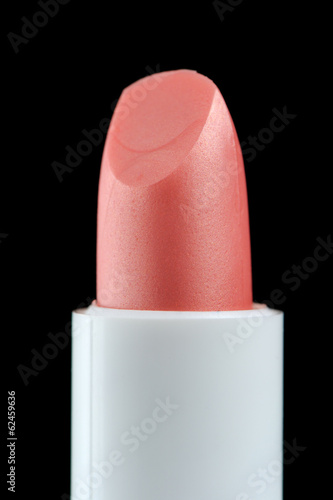 Pink Lip Care Stick on Black Background