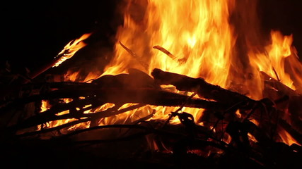 Burning Fire Close Up