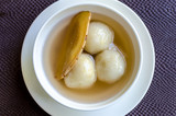 Rice flour dumpling in ginger syrup