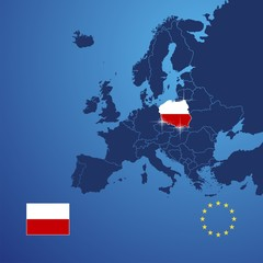 Poland map cover vector