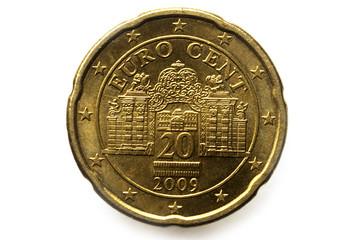 20 cent euro coin Austria אירו-סנט Двадцать евроцентов
