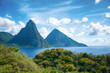 Panorama of Pitons at Saint Lucia, Caribbean - 62461439