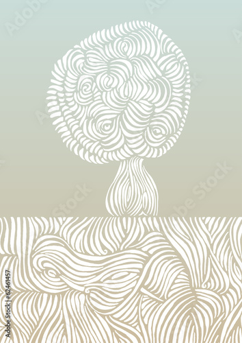 Roots & tree vector illustration