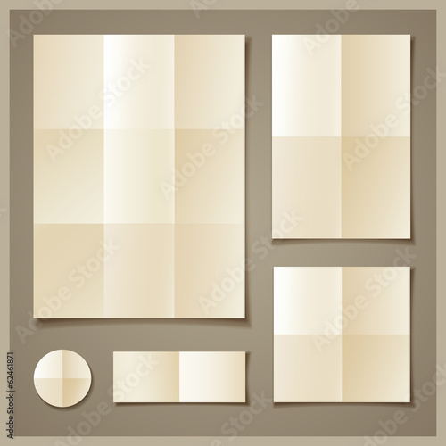 Paper folded collections design background
