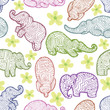 elephant seamless pattern hand draw