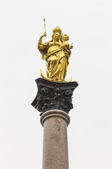 Statue of the Virgin Mary, Marienplatz, Munich