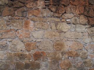 Sfondo irregolare di muro di mattoni