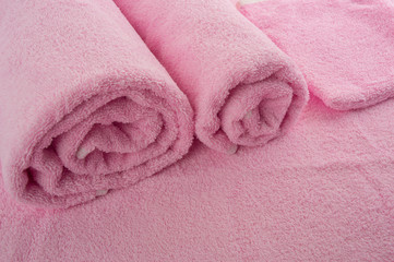 Pink soft towels