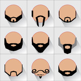 different types of beards and moustaches on a man