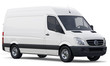 Compact white cargo van