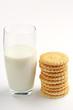 Leinwandbild Motiv Glass of milk and cookies