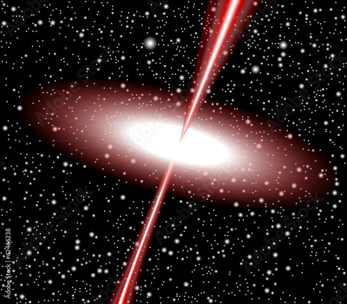 Quasar red vector - 62466238