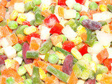 Frozen seasoned mixed vegetables, mexican style