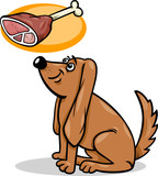 dog and haunch cartoon illustration