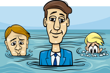 head above water saying cartoon