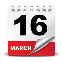 16 MARCH ICON