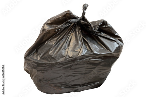 isolated garbage bag