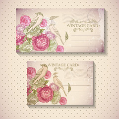 Floral Vector Vintage Card