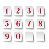 Numbers set. Vector illustration.
