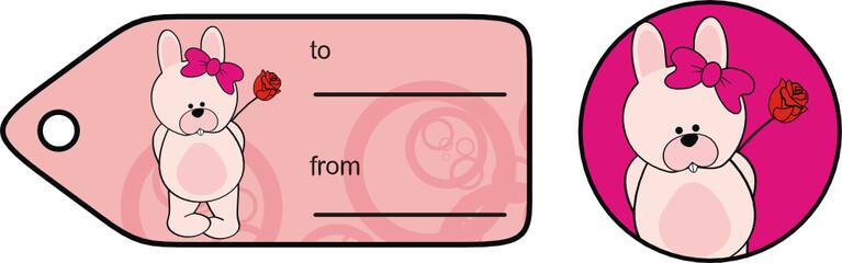 bunny sweet cartoon valentine sticker