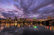 Portland Oregon Waterfront Skyline After Sunset