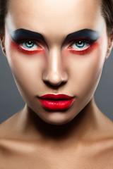 closeup beauty creative makeup woman face