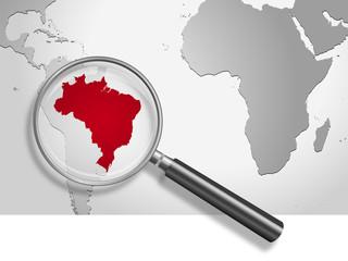 Landkarte *** Südamerika Brasilien