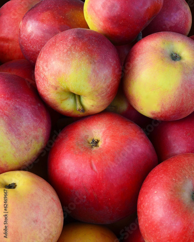 pile of red apples closeup/