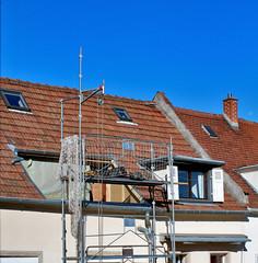 travaux sur le toit