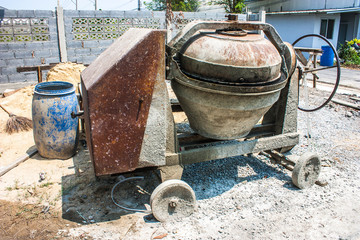 mixer concrete tool  for  construction