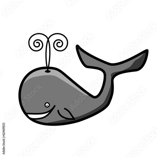 friendly whale illustration