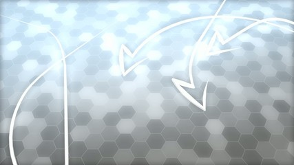 Abstract honeycomb, arrows background