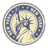 grungy New York stamp (textures removable)