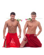Image of hot muscular guys posing with roses