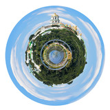spherical panoramic view of Kiev Pechersk Lavra