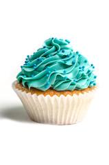 Blue creamed cupcake